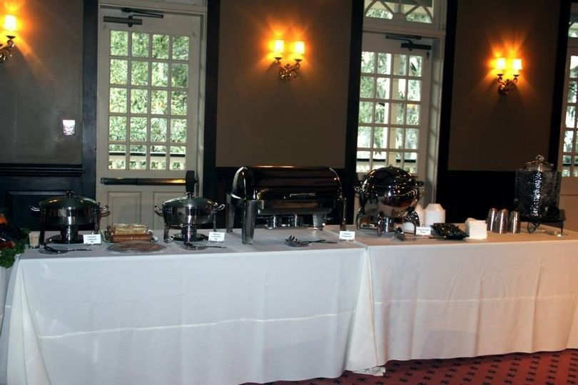 A closer view of the 2nd Buffet Table.   This table held two dips (Crawfish & Spinach and Spinach &...