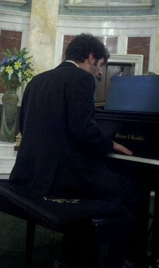 On the piano