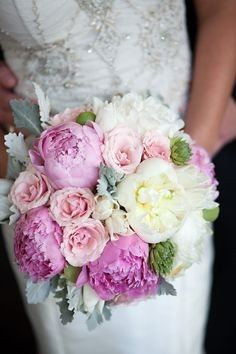 Beautiful white and pink arrangement