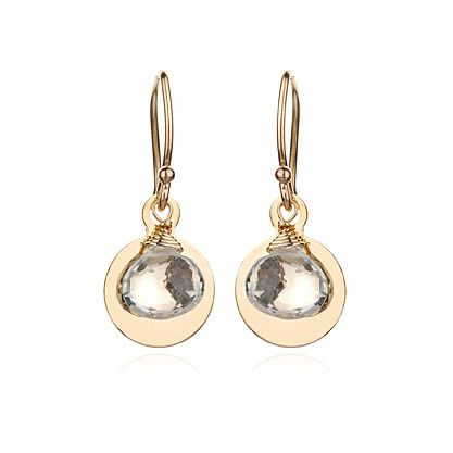 18k vermeil french ear wires with your choice of stone atop a 14k gold-filled disk.  Our go-to...