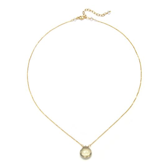 Amanda Rudey Bailey Necklace ~ Simple and elegant, this necklace features one small faceted drop....