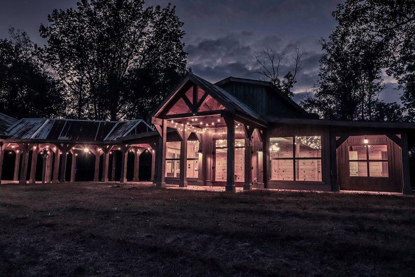 The barn at night