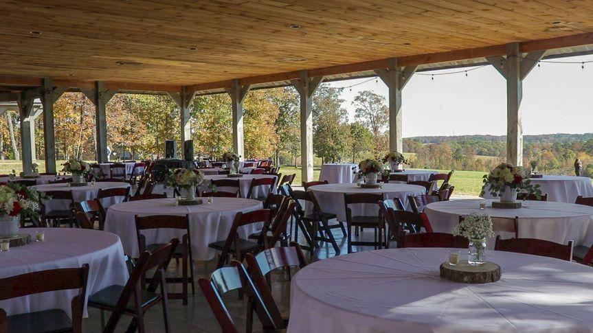 Pavilion reception views