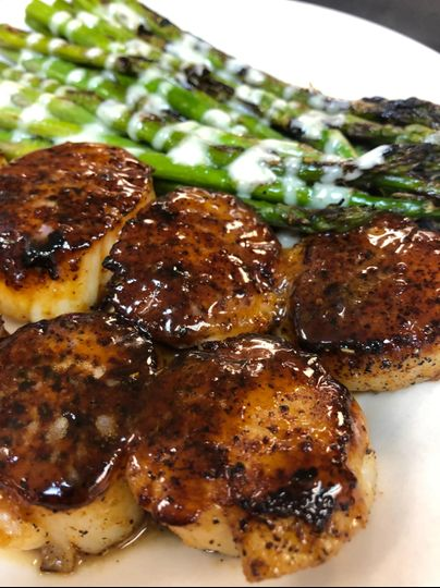Scallops & Asparagus
