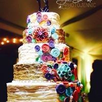 Wedding cake with colorful designs