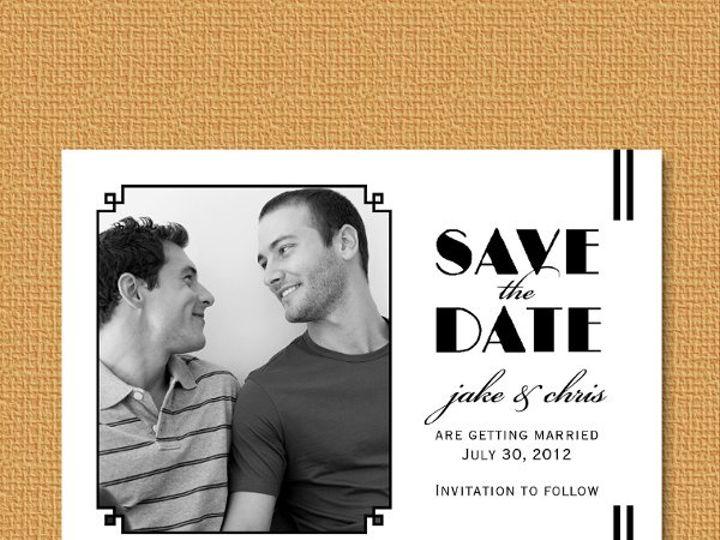 Tmx 1327628115163 LGBTsavephotov2 Union wedding invitation