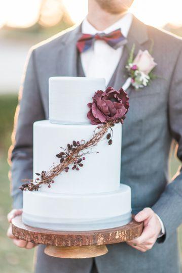 Handmade sugar blossoms & berries. Morais Vineyards & Winery, Bealton, VA.