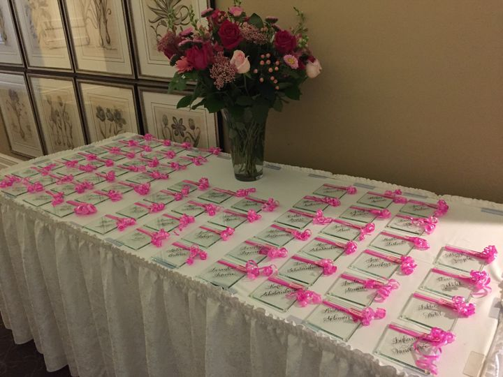 table of place cards