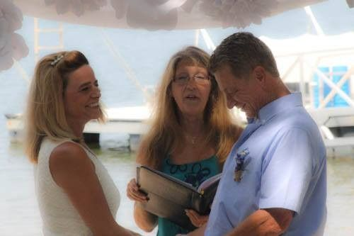 Intimate ome wedding - wedding officiant: Karen HillCustom vows, pre-marital counseling, home...