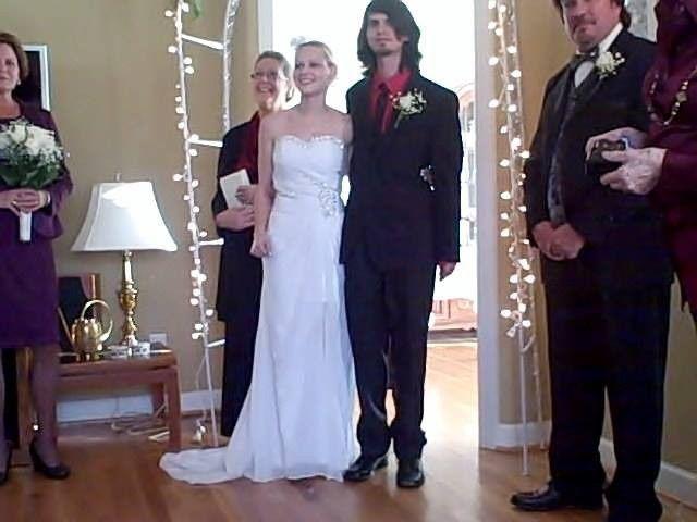 Home wedding - wedding officiant: Karen HillCustom vows, pre-marital counseling, home wedding...