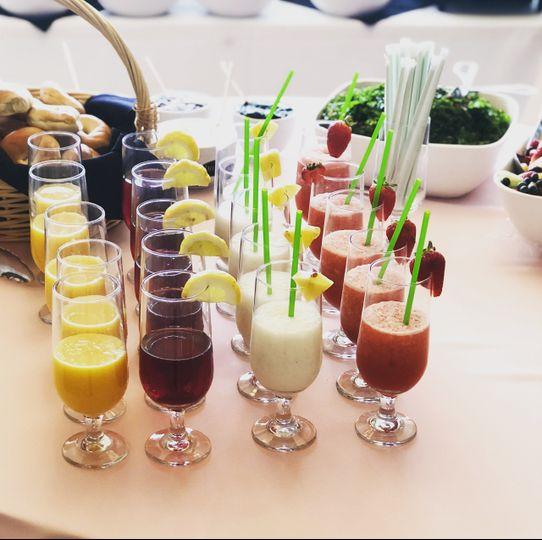 Mocktail samples