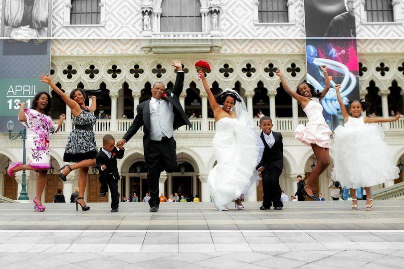 Las Vegas Strip Wedding Photo