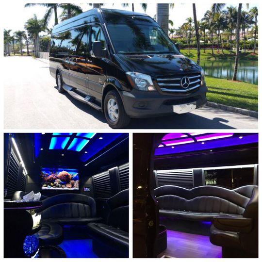 Our new 14 Passenger Mercedes Sprinter Limo Van is sure to impress!