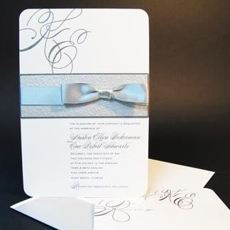 Invitation with ribbon