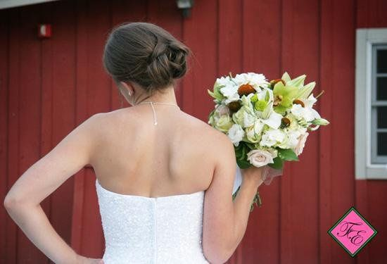 This moment was captured when the bride was talking with some of her friends outside of her Pratt...