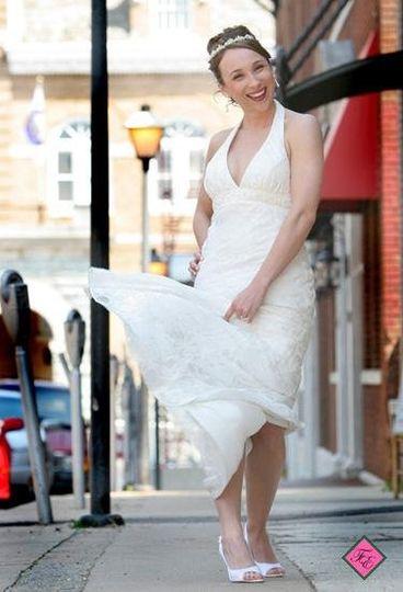 City style bridal portrait