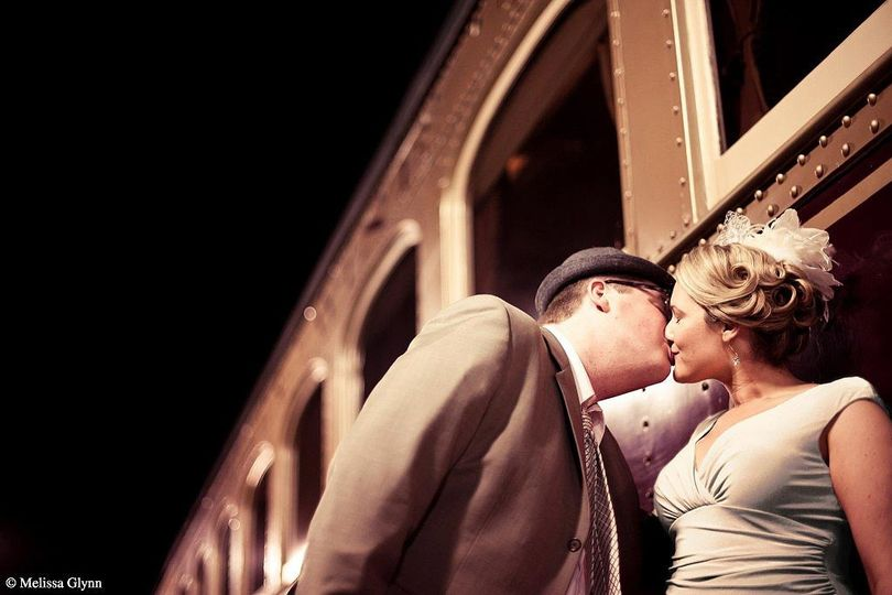 napa valley wine train private event wedding kiss