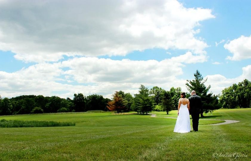 Couple in an open field