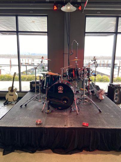 The band setup