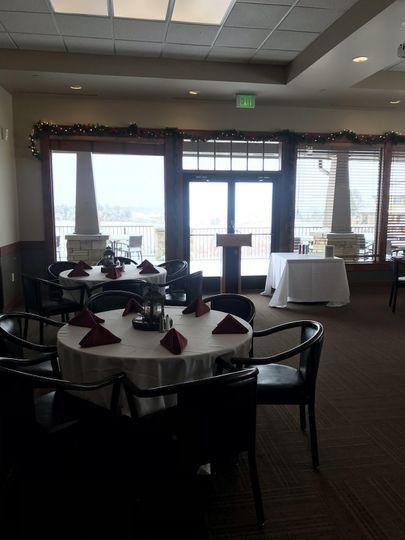 Inside banquet room