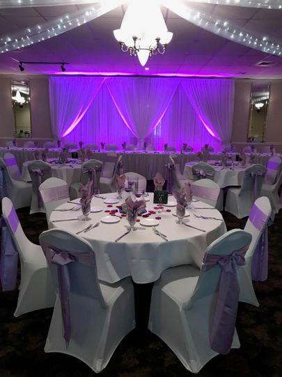 Nice purple backdrop