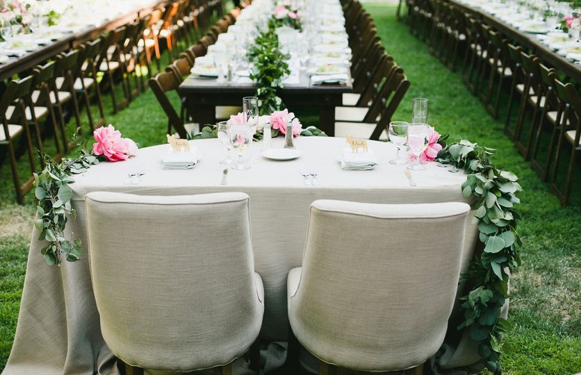 Rustic couple table