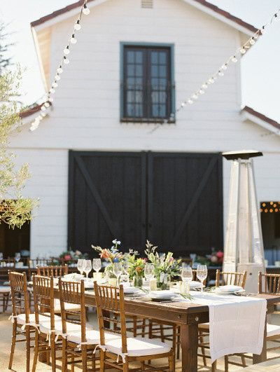 Reception in front of the barn