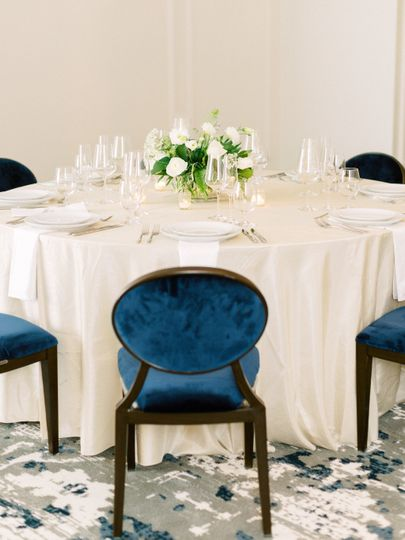 Chair and table decor ballroom