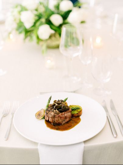 Reception plated style dinner