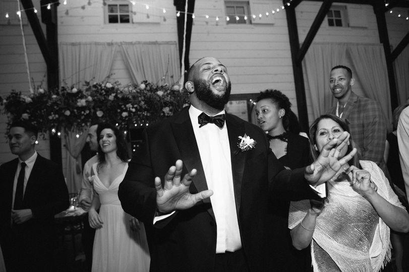 MC on the dance floor