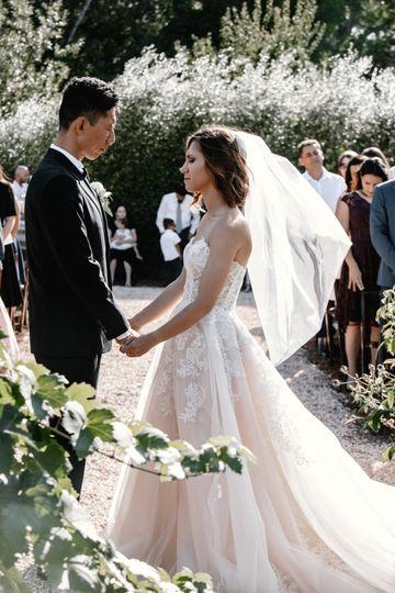 Wedding ceremony in Napa