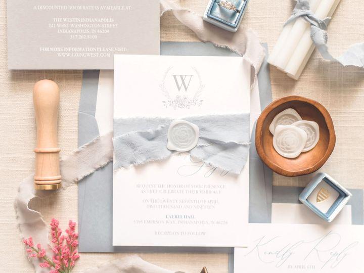 Tmx Bluegrayvellum 4 Copy 51 988907 157833430733581 Indianapolis, IN wedding invitation