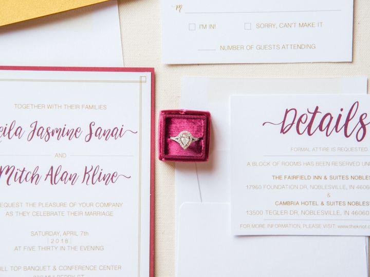 Tmx Details 2 51 988907 157833439822179 Indianapolis, IN wedding invitation
