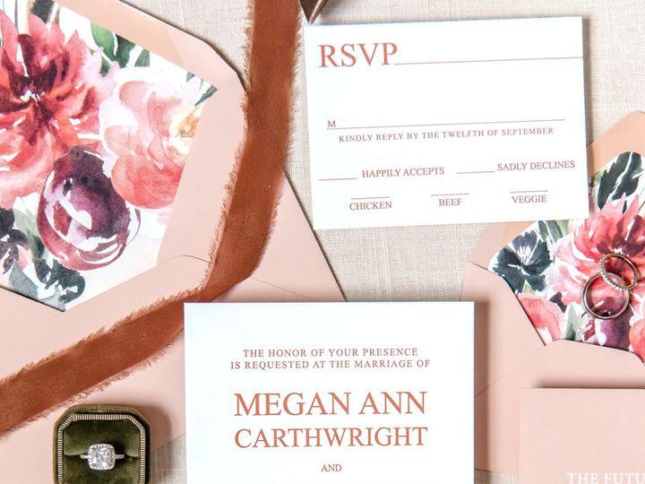 Tmx Floral Letterpress 16 2 51 988907 160426199088899 Indianapolis, IN wedding invitation