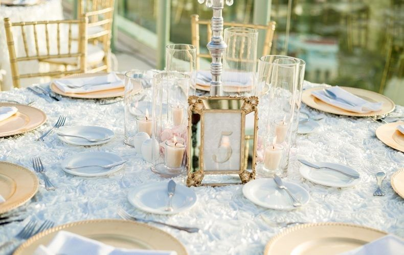 stylish wedding reception table number by weddings