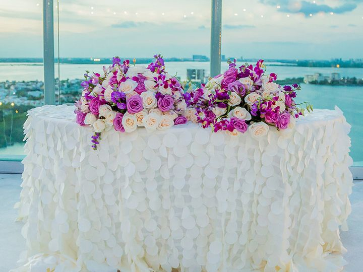 Tmx 1500405896794 Stylish Cancun Beach Palace Purple Reception Sweet Rockville, MD wedding planner
