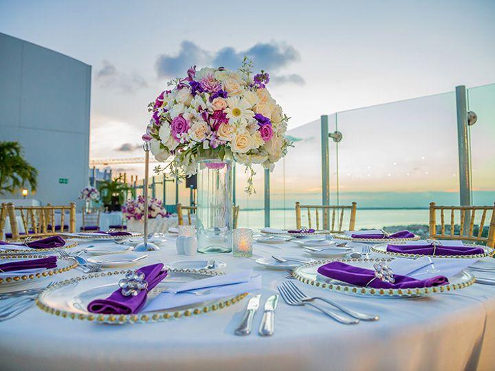 Tmx 1500405905443 Stylish Cancun Beach Palace Purple Weddings Sky Te Rockville, MD wedding planner