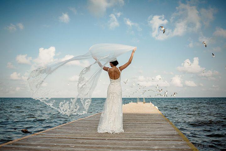 Beautiful destination bride