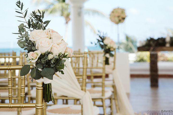 Aisle ceremony flowers