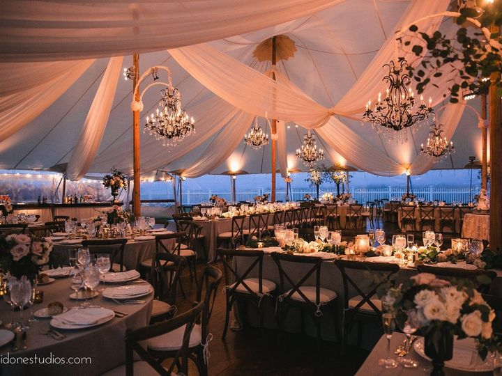 Tmx Cape Cod Tent Wedding With Wrought Iron Chandeliers Ceiling Drape Pinspotting And Uplighting By Ormonde 48 51 189907 157670607847009 Warren, RI wedding eventproduction