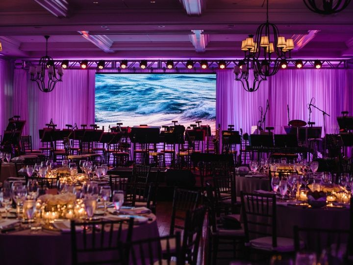 Tmx Draping And Large Led Video Wall By Ormonde 0011 51 189907 157670593040828 Warren, RI wedding eventproduction