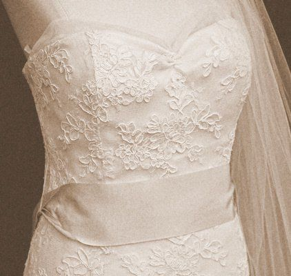 White classic wedding gown