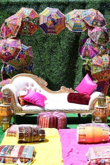 Backyard Mehendi decor