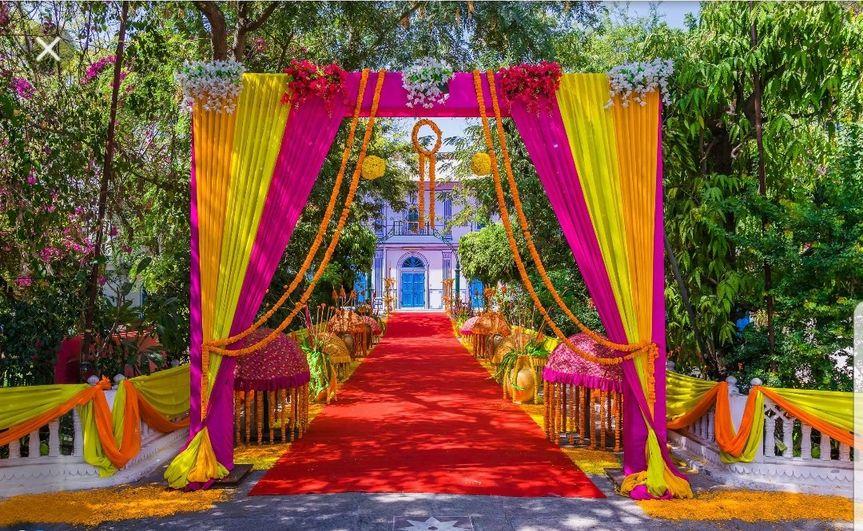 Beautiful wedding setup
