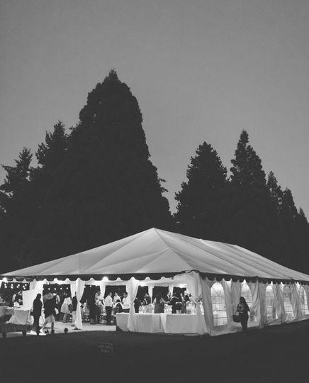 Outdoor wedding veue