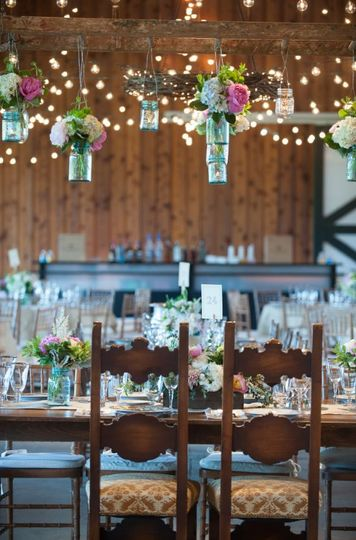 Rustic reception venue