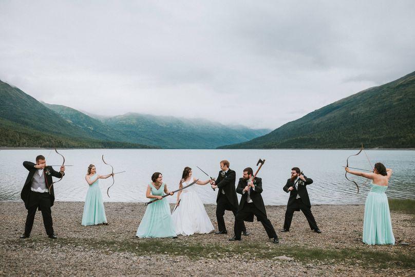 Eklunta Lake wedding party