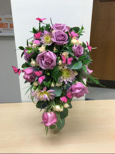 Butterfly rose bouquet