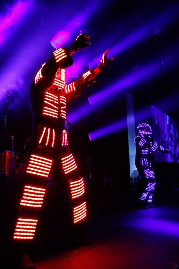 LED party time robot