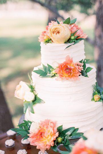 Spring Ribbon Wedding Cake